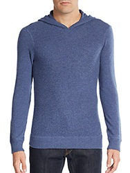 Saks Fifth Avenue Waffle Knit Cashmere Hoodie Selvage