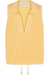 Carven Knitted Top Yellow Gbp