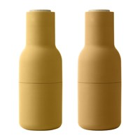 Menu Bottle Salt And Pepper Grinder Set Of 2 Burnt Yellow