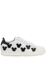 Moa Master Of Arts Mickey Mouse Leather Sneakers White Black