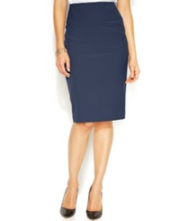 Alfani Classic Pencil Skirt Navy
