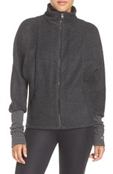Alo Yoga Women's Dream Fleece Jacket Charcoal Htr Blk