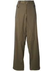 Romeo Gigli Vintage Dropped Crotch Wide Trousers Green