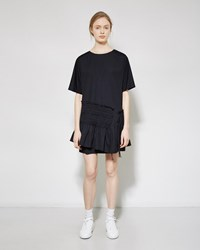 3.1 Phillip Lim Smocked Poplin Dress Navy