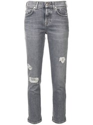 7 For All Mankind Distressed Jeans Grey
