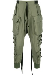 Unravel Project Regular Cargo Trousers Green