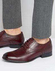 Base London Ford Leather Derby Shoes Red