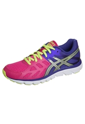 Asics Gelzaraca 3 Cushioned Running Shoes Hot Pink Silver Flash Yellow