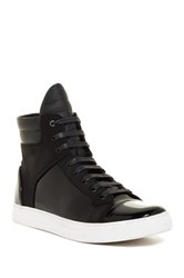Kenneth Cole Double Up Patent Leather High Top Sneaker Black