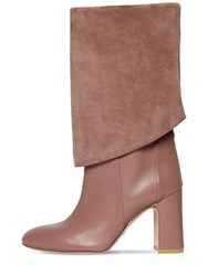 Stuart Weitzman 90Mm Lucinda Tall Leather Boots Beige