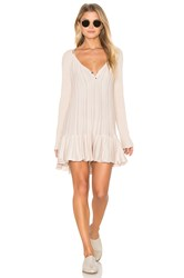 Free People Ribs And Ruffles Top Beige