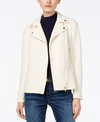 Inc International Concepts Petite Textured Moto Jacket Only At Macy's Cream