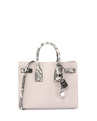 Saint Laurent Sac De Jour Small Python Stamp Satchel Bag Black White Gray Size S