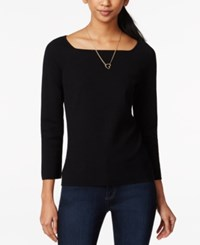 Maison Jules Striped Ballet Neck Top Only At Macy's