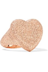 Carolina Bucci Florentine Heart 18 Karat Rose Gold Ring