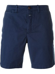 Closed Straight Fit Bermuda Shorts Blue