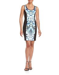 Guess Colorblock Scuba Tank Dress Cobalt Multi