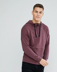 Tom Tailor Hoodie With Dropped Shoulder In Purple 4793 Red