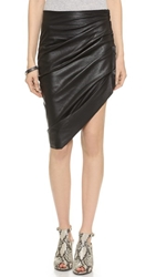 Bec And Bridge Vagabond Leather Skirt Black