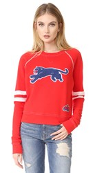 Mother The Super Square Sweatshirt Red