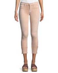 Hudson Tally Mid Rise Crop Skinny Jeans Pink