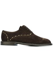 Dolce And Gabbana Studded Brogues Brown