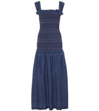 Stella Mccartney Anija Denim Dress Blue