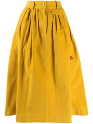 Marc Jacobs Corduroy Midi Skirt Yellow