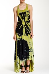 Go Couture Tie Dye Hi Lo Dress Green