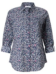 John Lewis Bird Print Shirt Navy