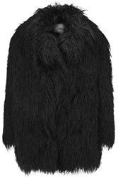 Ainea Faux Fur Coat Black