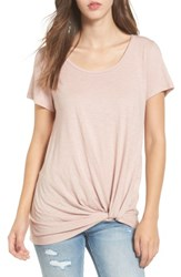 Women's Bp. Twist Front Tee Pink Adobe