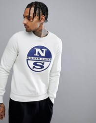 North Sails Lowell Logo Sweatshirt In White White 0103