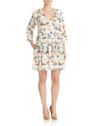 Essentiel Printed Shift Dress White Multi