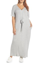 Bobeau Cinched Back Maxi Dress Grey