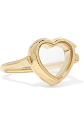 Loquet 14 Karat Gold And Glass Ring 3