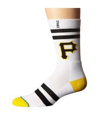 Stance Black And Yellow White Men's Crew Cut Socks Shoes