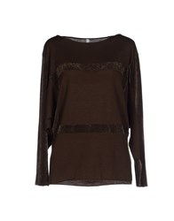 Pierantonio Gaspari Sweaters Dark Brown