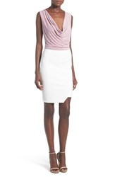 Women's Missguided Cowl Neck Colorblock Sheath Dress