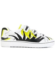 Ash Touch Strap Printed Sneakers Leather Rubber White