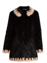 Shrimps Bobby Faux Fur Coat Black Multi