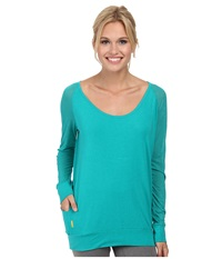 Lole Orchid Top Algea Women's Long Sleeve Pullover Green