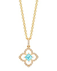 Aurora Blue Topaz And Diamond Pendant In 18K Gold Kiki Mcdonough Blue Gold