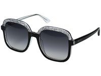 Jimmy Choo Glint S Black Glitter Gray Dark Gray Gradient Lens