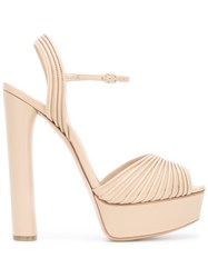 Casadei Platform Sandals Women Leather Nappa Leather Kid Leather 35.5 Nude Neutrals