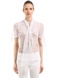 Givenchy Lace Shirt With Cape Sleeves White