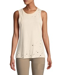 Alo Yoga Distressed Muscle Tank Pink