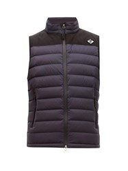 Burberry Tb Logo Quilted Down Gilet Navy