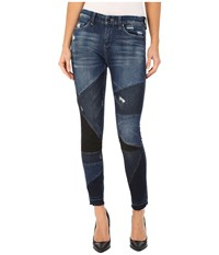 Blank Nyc Patterned Skinny In Ball Chain Ball Chain Women's Casual Pants Blue