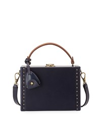 Ralph Lauren Mini Attache Box Shoulder Bag Navy Girl's